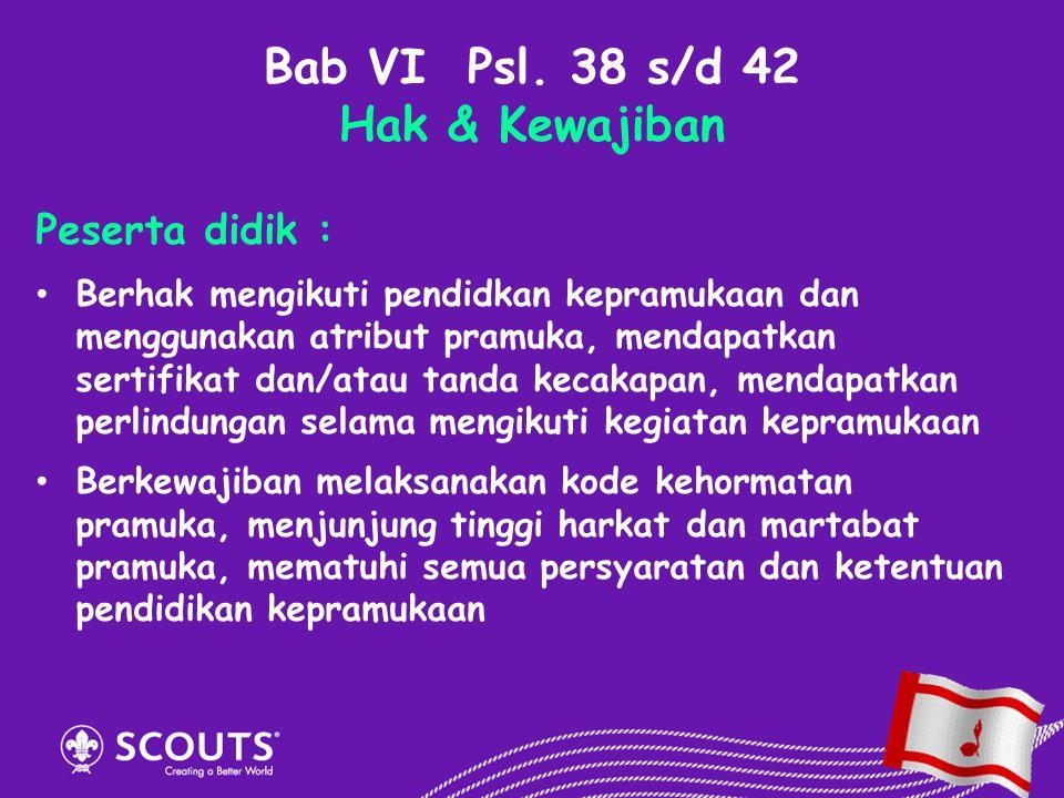 Bab VI Psl. 38 s/d 42 Hak & Kewajiban