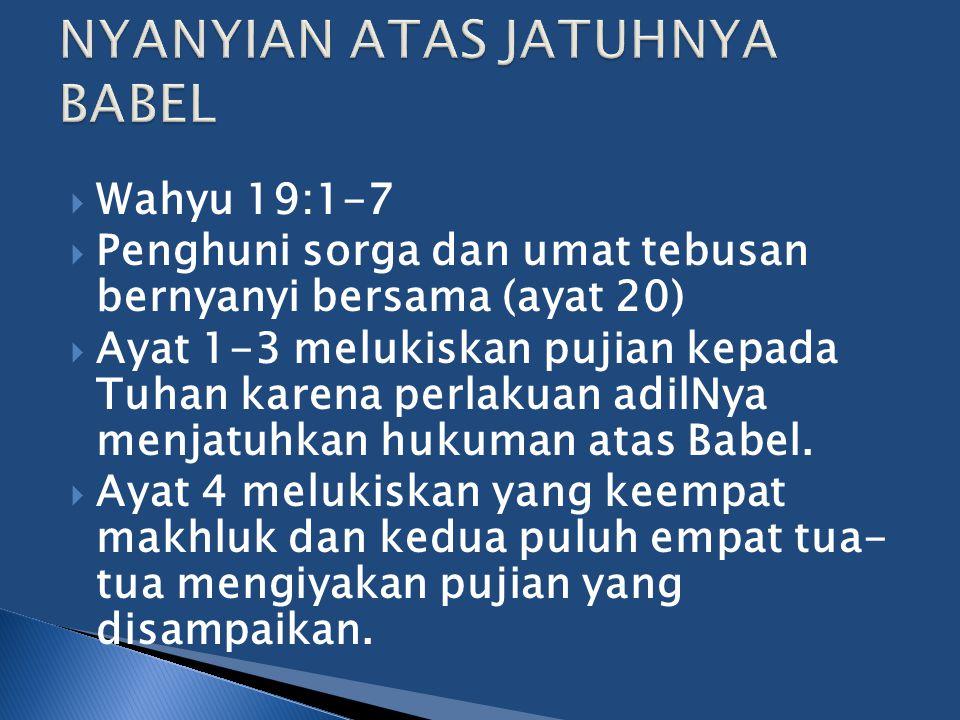 NYANYIAN ATAS JATUHNYA BABEL