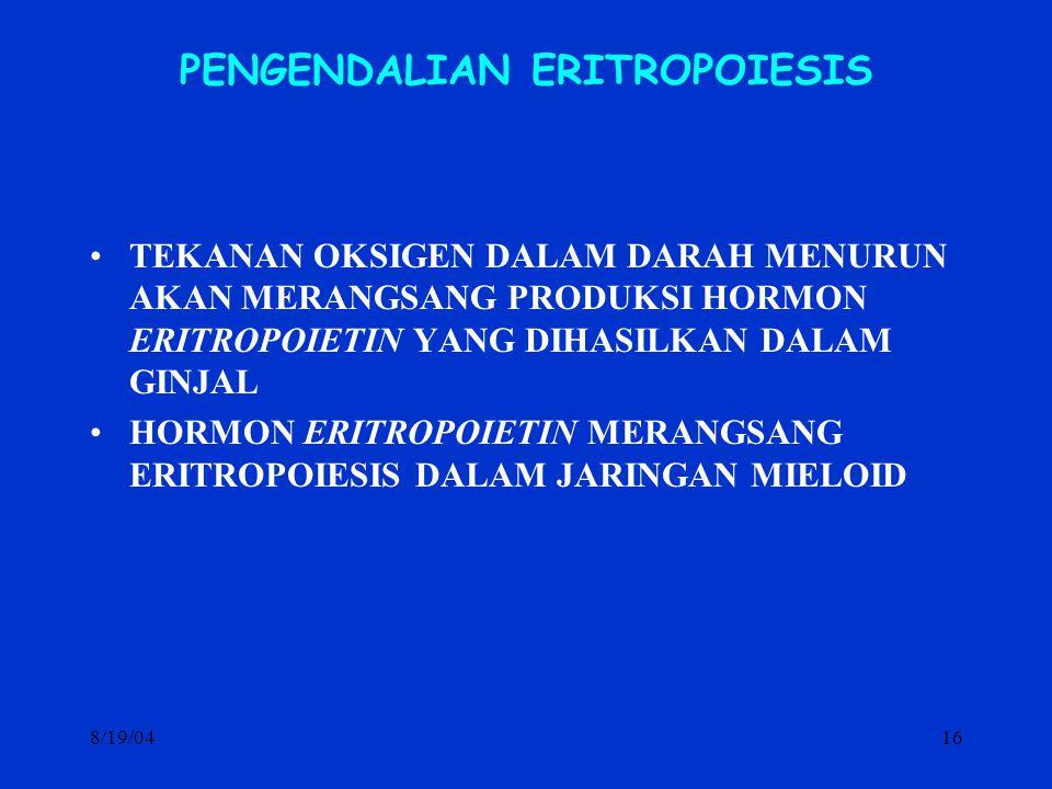 PENGENDALIAN ERITROPOIESIS
