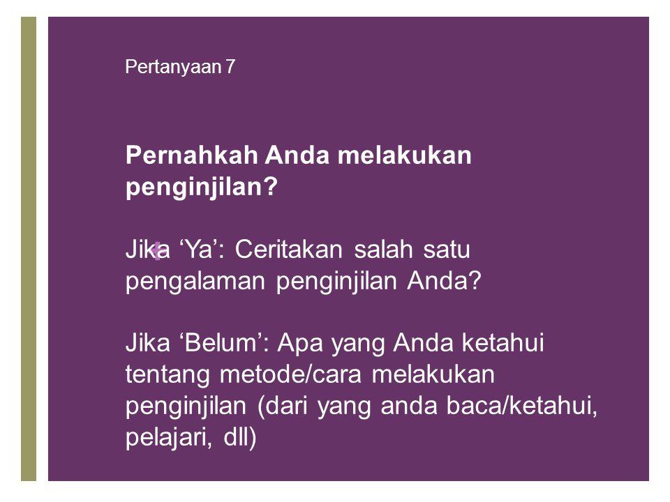Pertanyaan 7