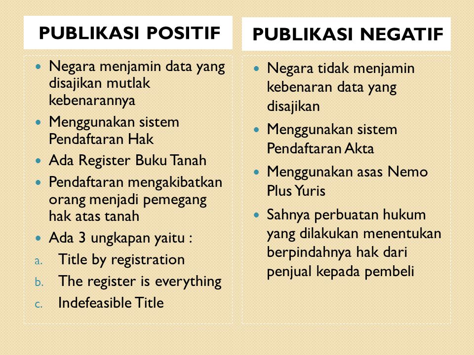 PUBLIKASI POSITIF PUBLIKASI NEGATIF