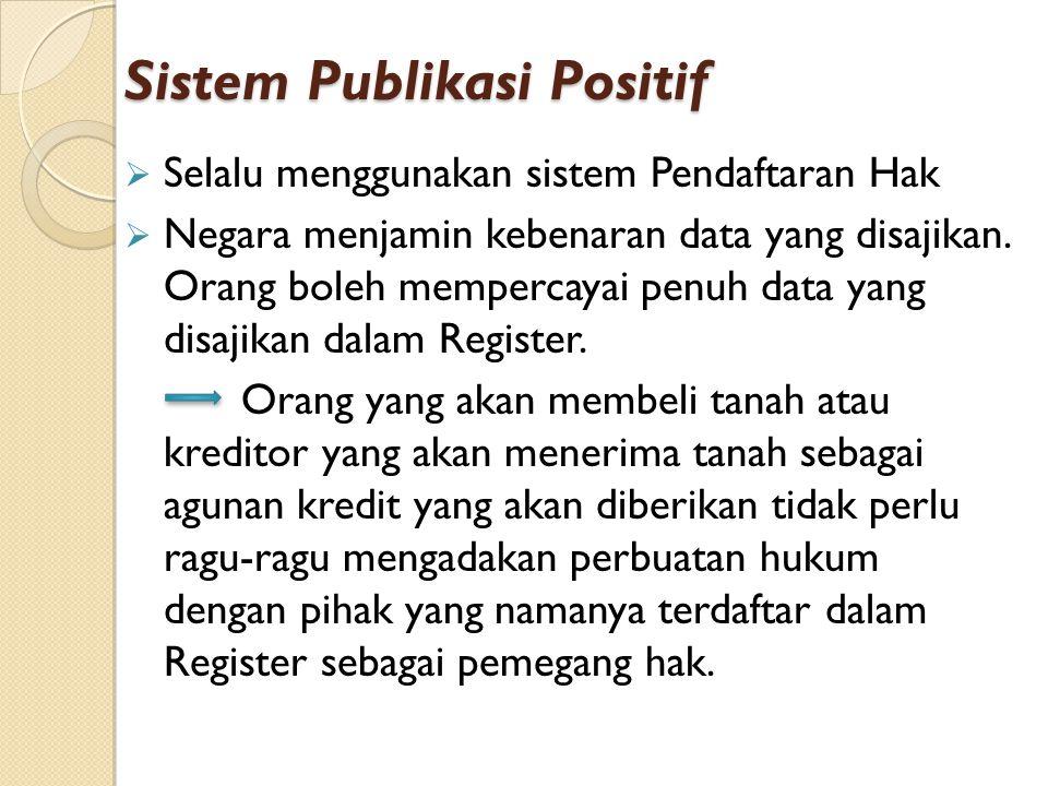 Sistem Publikasi Positif
