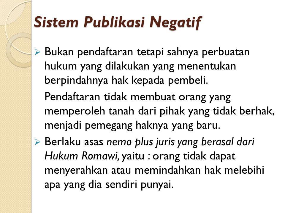 Sistem Publikasi Negatif