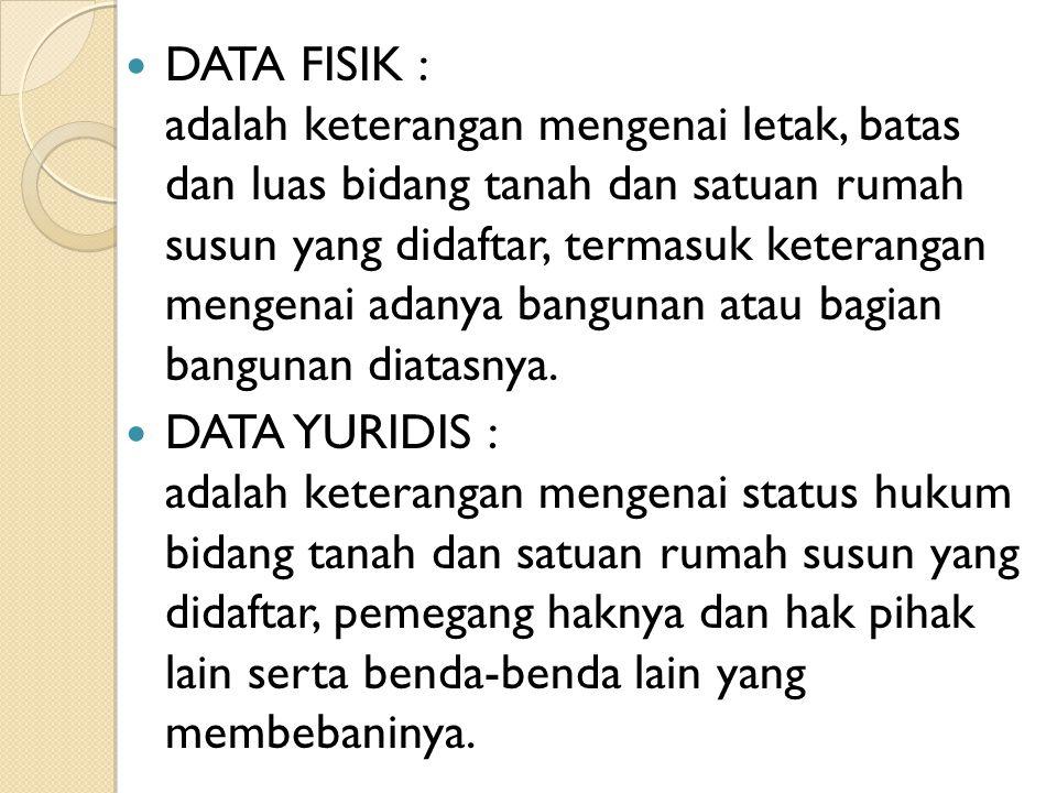 DATA FISIK :