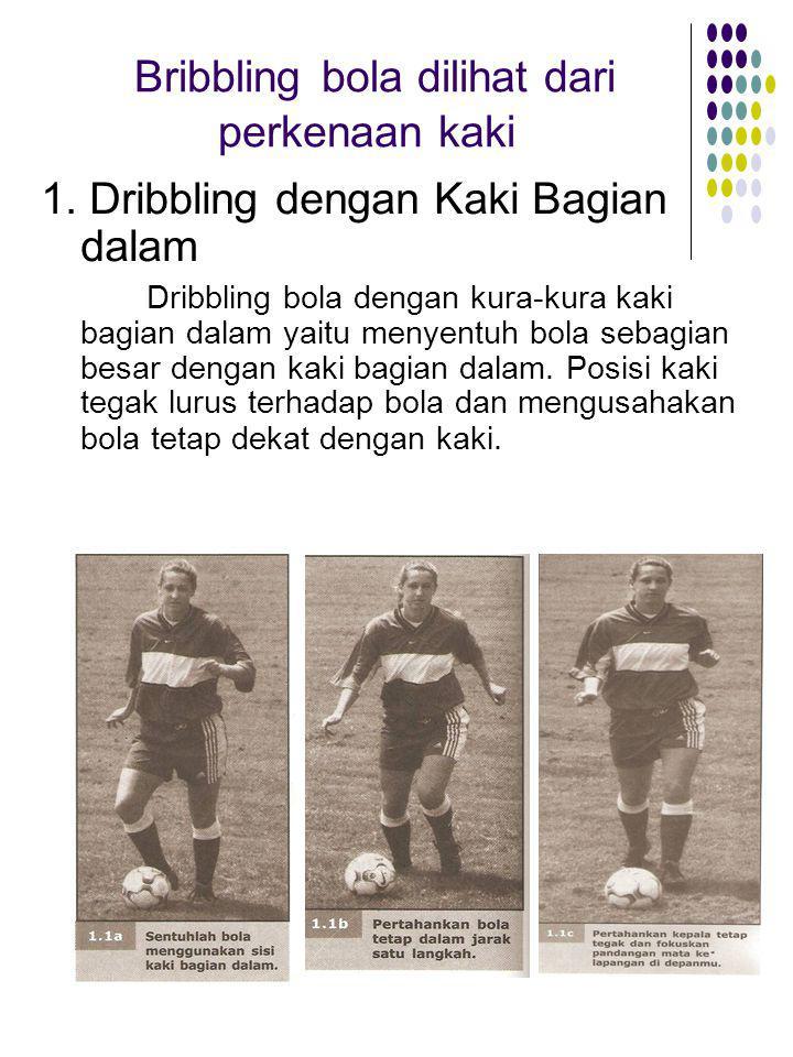 Bribbling bola dilihat dari perkenaan kaki