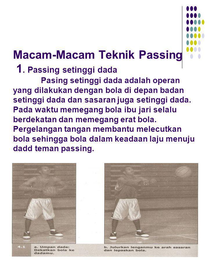 Macam-Macam Teknik Passing 1. Passing setinggi dada