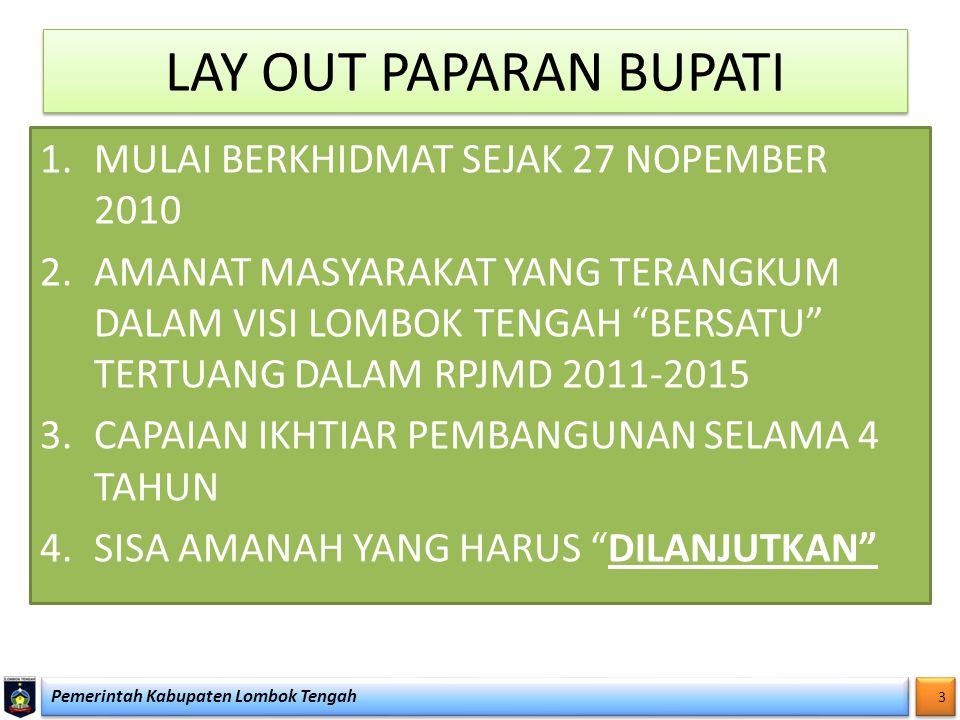 LAY OUT PAPARAN BUPATI MULAI BERKHIDMAT SEJAK 27 NOPEMBER 2010