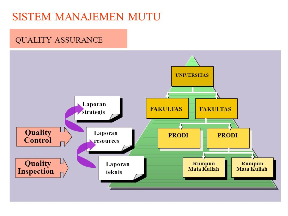 SISTEM MANAJEMEN MUTU QUALITY ASSURANCE UNIVERSITAS Control Inspection