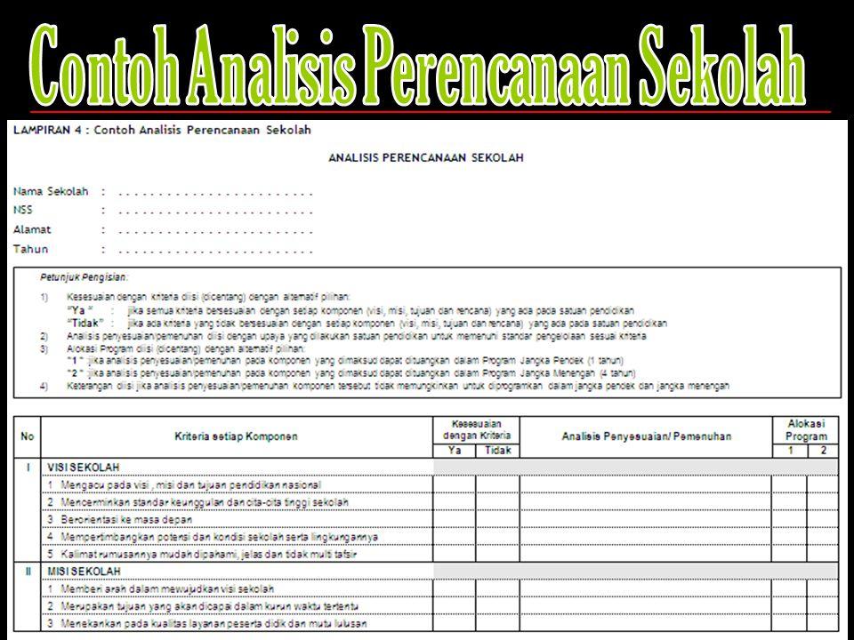 Contoh Analisis Perencanaan Sekolah