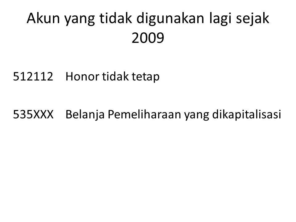 Akun yang tidak digunakan lagi sejak 2009