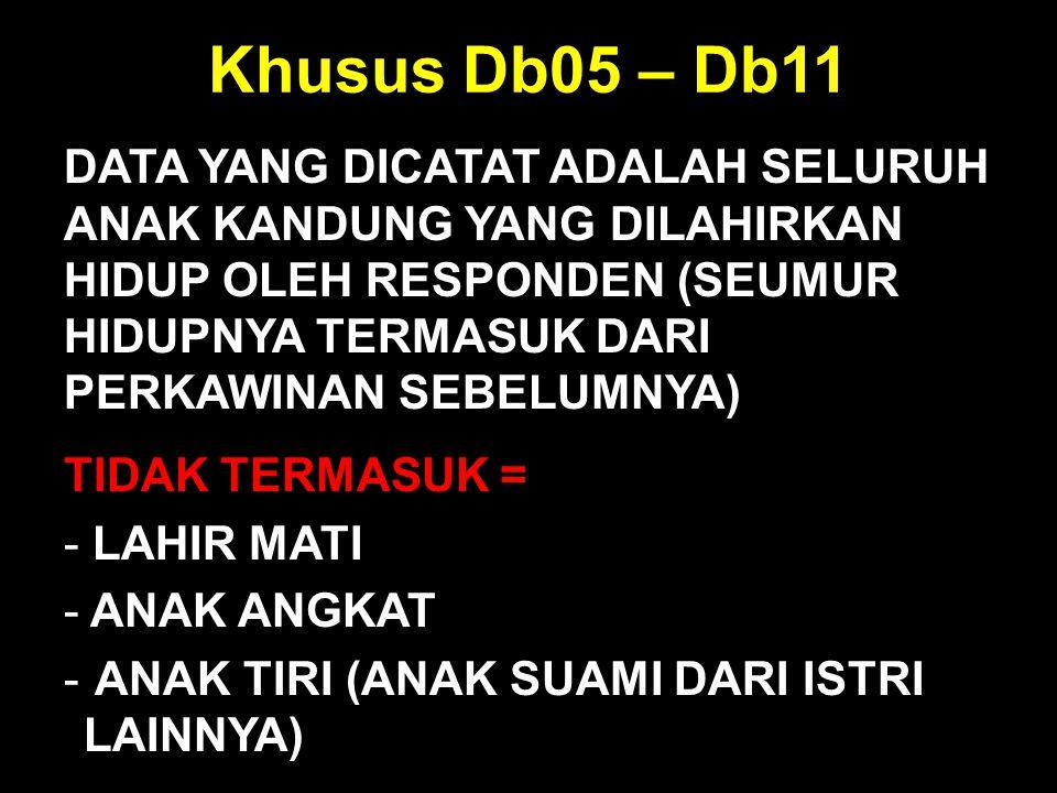 Khusus Db05 – Db11
