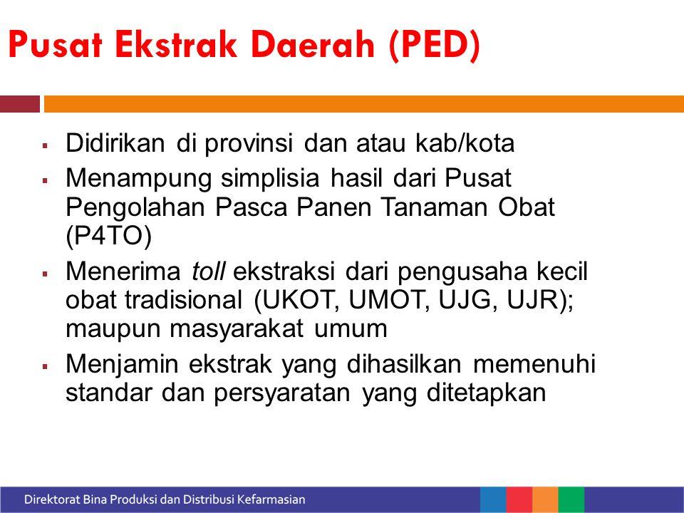 Pusat Ekstrak Daerah (PED)