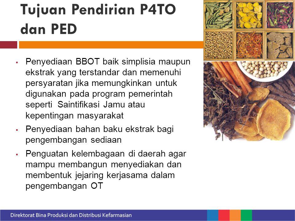 Tujuan Pendirian P4TO dan PED