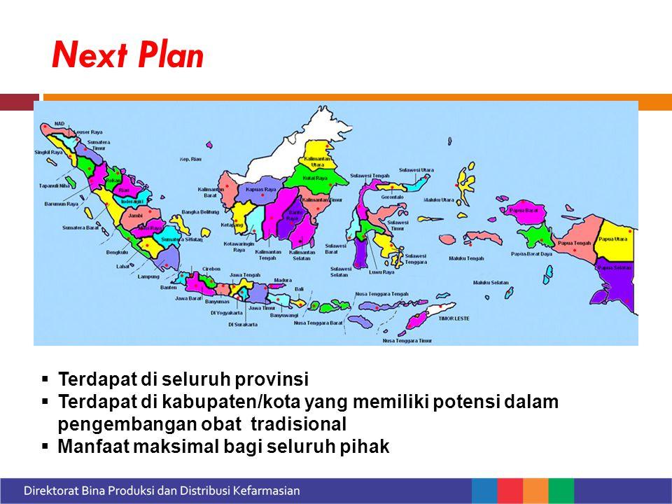 Next Plan Terdapat di seluruh provinsi