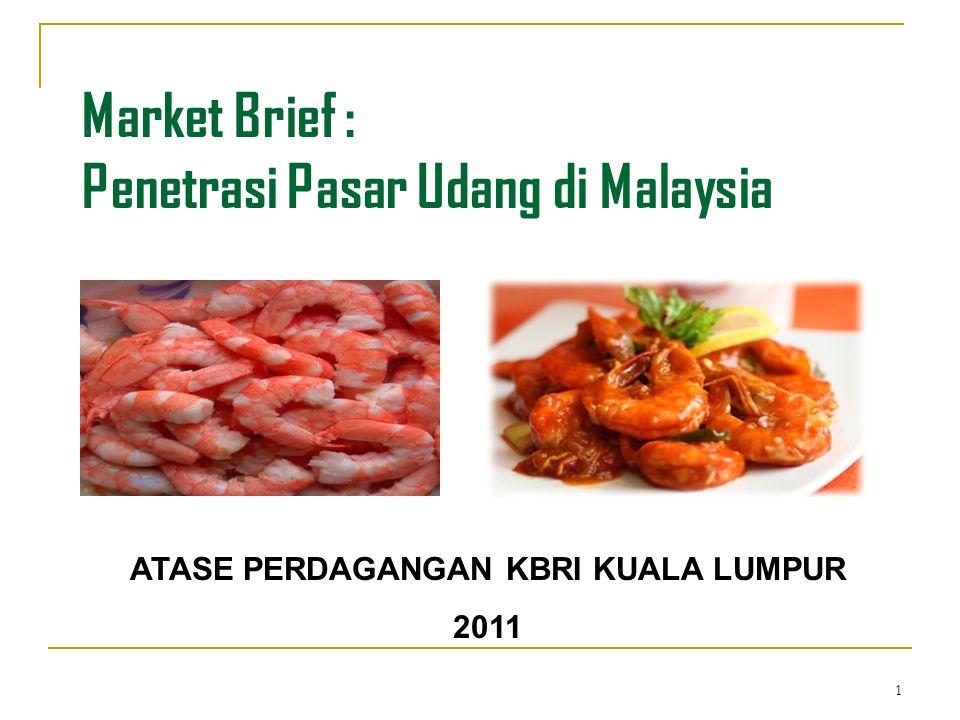 Market Brief : Penetrasi Pasar Udang di Malaysia