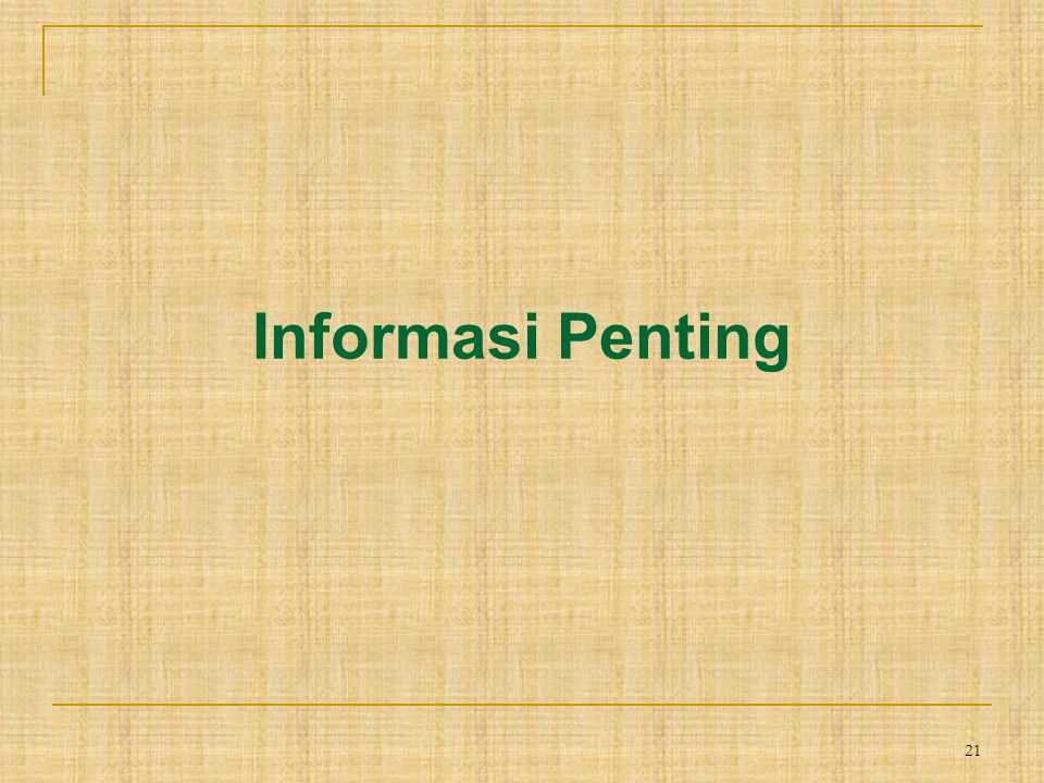 Informasi Penting