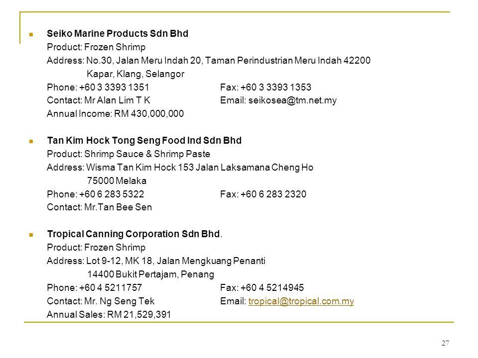 Seiko Marine Products Sdn Bhd