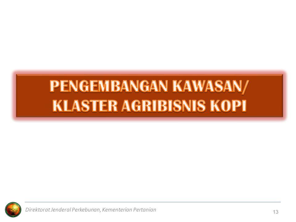 PENGEMBANGAN KAWASAN/ KLASTER AGRIBISNIS KOPI