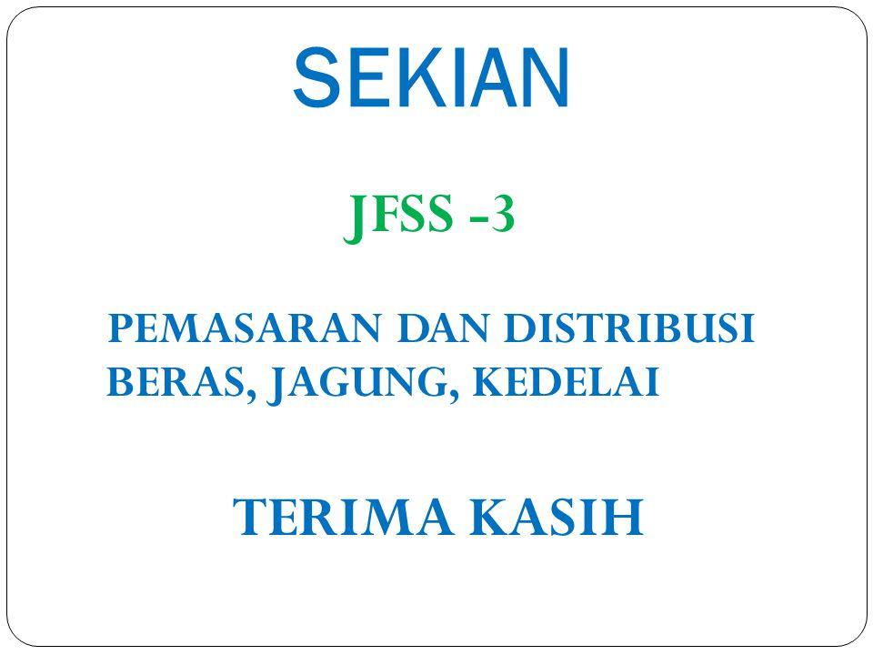 SEKIAN PEMASARAN DAN DISTRIBUSI JFSS -3 BERAS, JAGUNG, KEDELAI