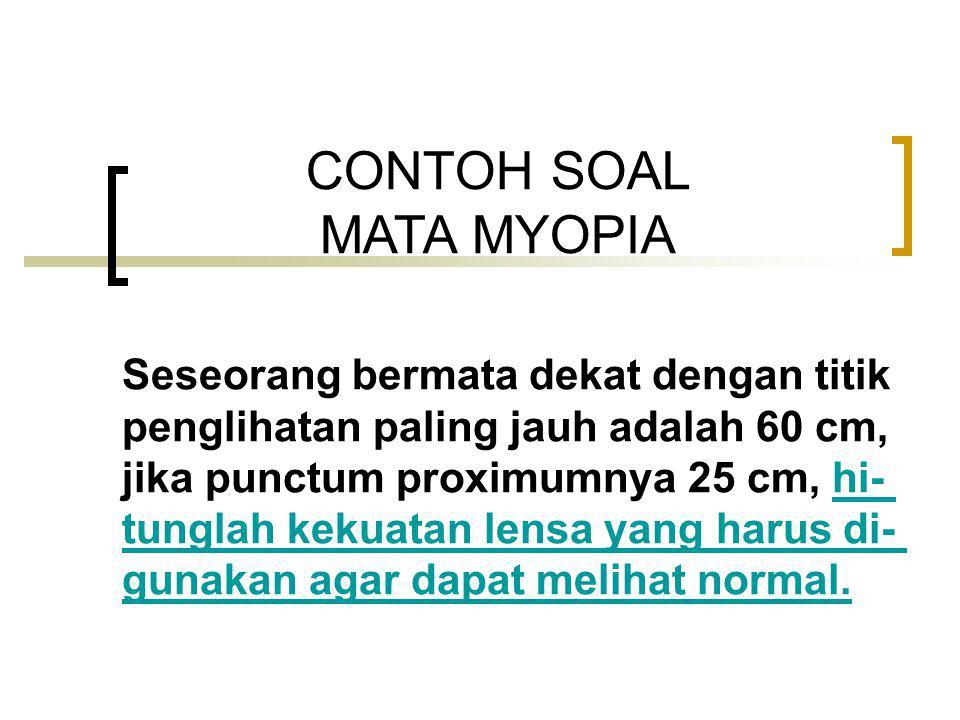 CONTOH SOAL MATA MYOPIA