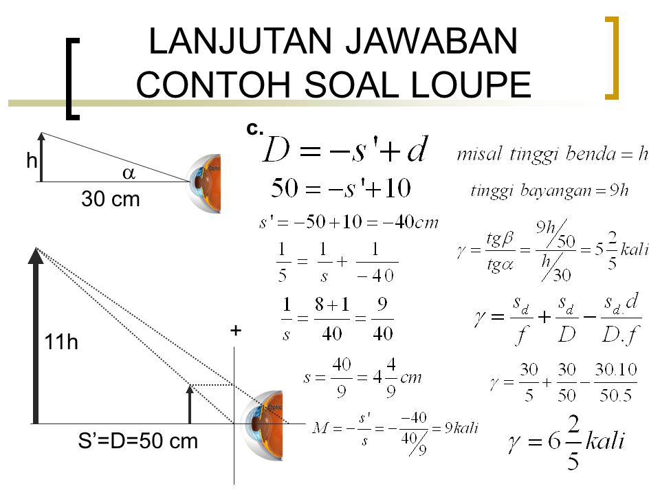 LANJUTAN JAWABAN CONTOH SOAL LOUPE