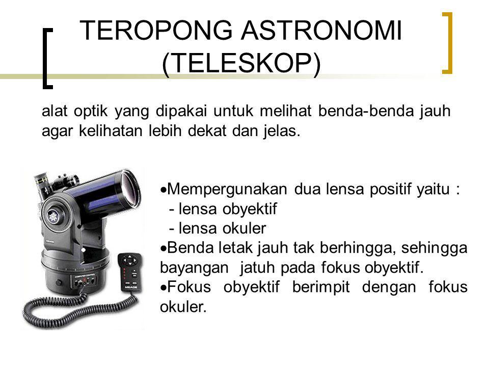 TEROPONG ASTRONOMI (TELESKOP)