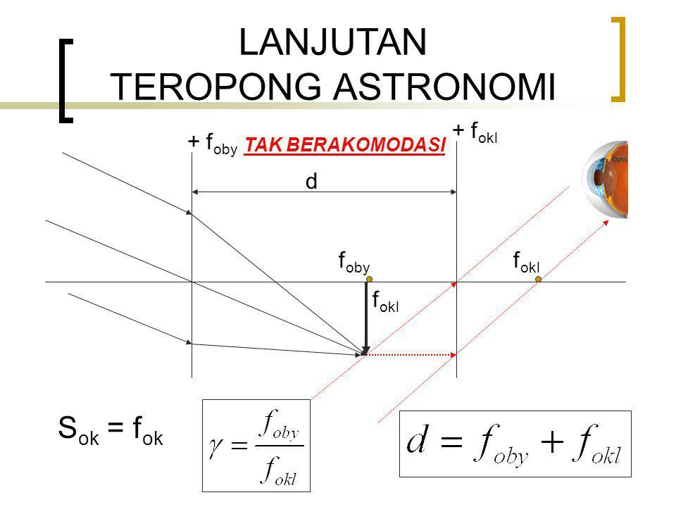 LANJUTAN TEROPONG ASTRONOMI