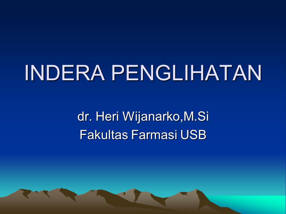 dr. Heri Wijanarko,M.Si Fakultas Farmasi USB
