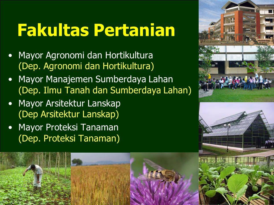 Fakultas Pertanian Mayor Agronomi dan Hortikultura (Dep. Agronomi dan Hortikultura)