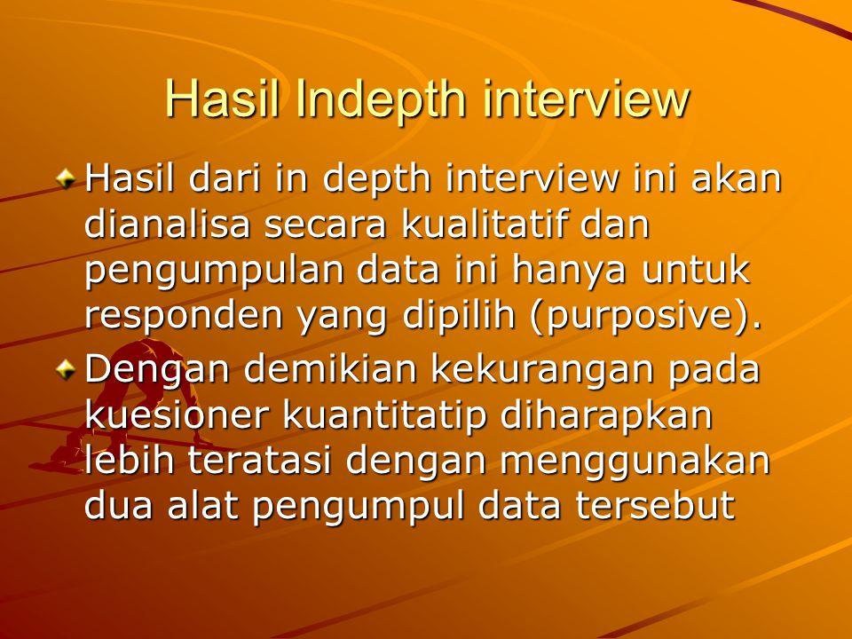 Hasil Indepth interview