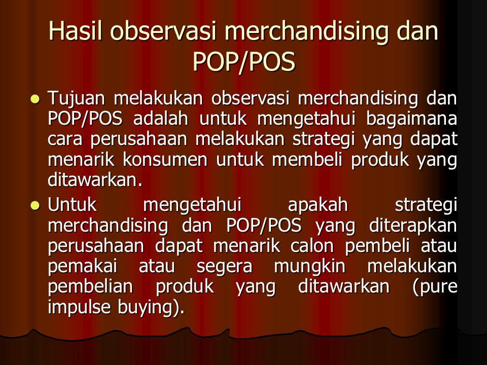 Hasil observasi merchandising dan POP/POS