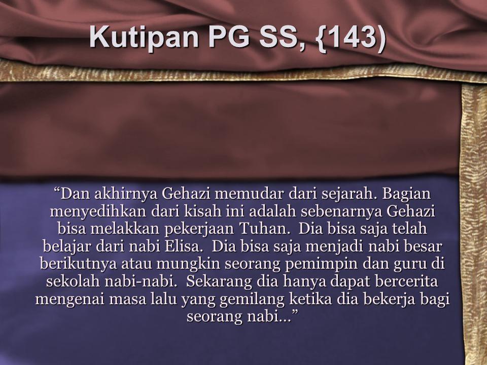 Kutipan PG SS, {143)