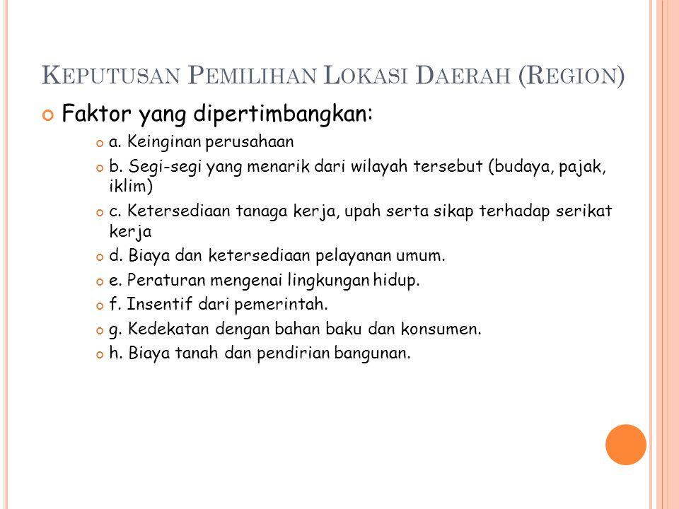 Keputusan Pemilihan Lokasi Daerah (Region)