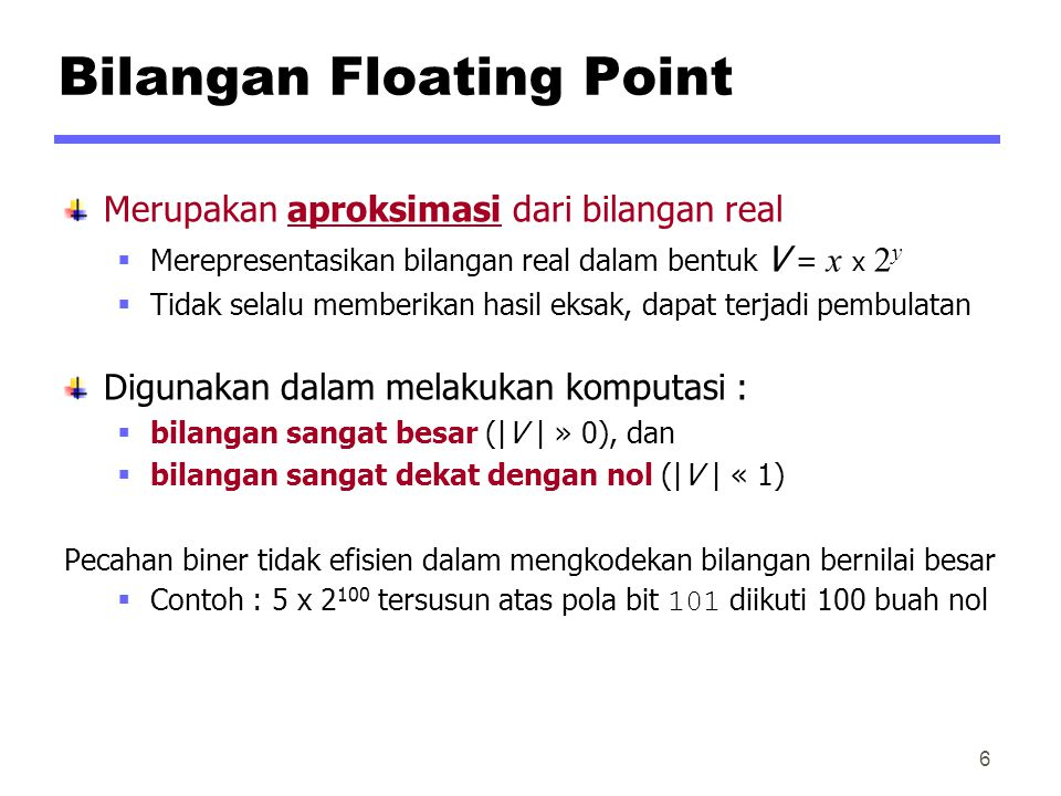 Bilangan Floating Point