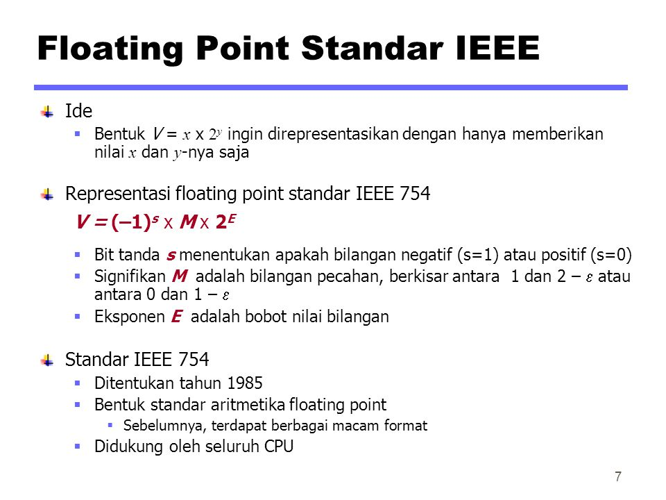 Floating Point Standar IEEE
