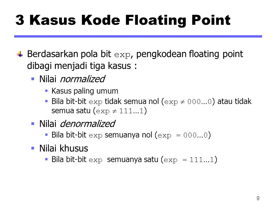 3 Kasus Kode Floating Point