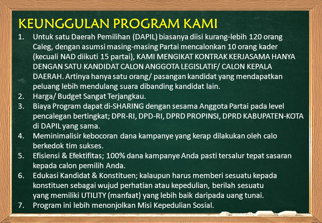 KEUNGGULAN PROGRAM KAMI