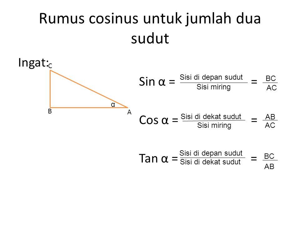 Rumus cosinus untuk jumlah dua sudut