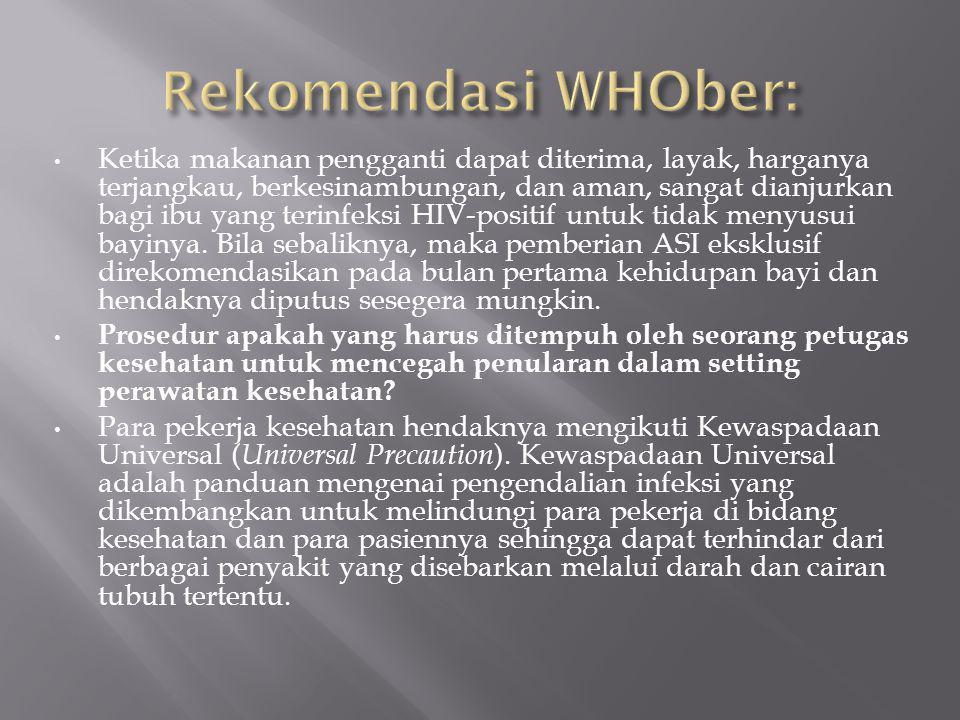 Rekomendasi WHOber:
