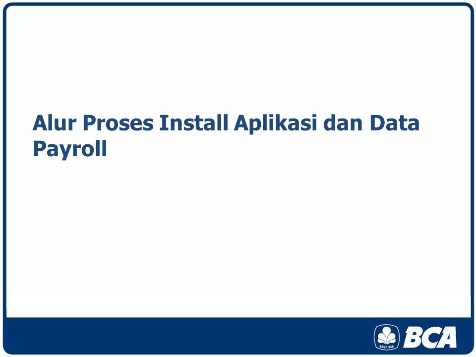 Alur Proses Install Aplikasi dan Data Payroll