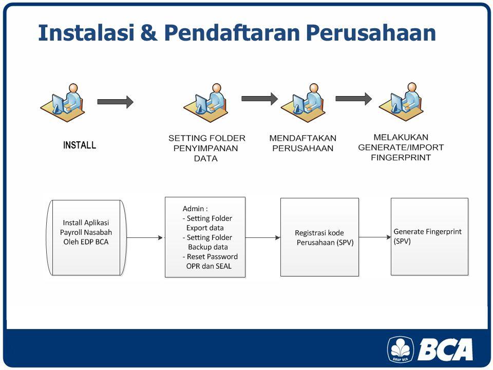 Instalasi & Pendaftaran Perusahaan