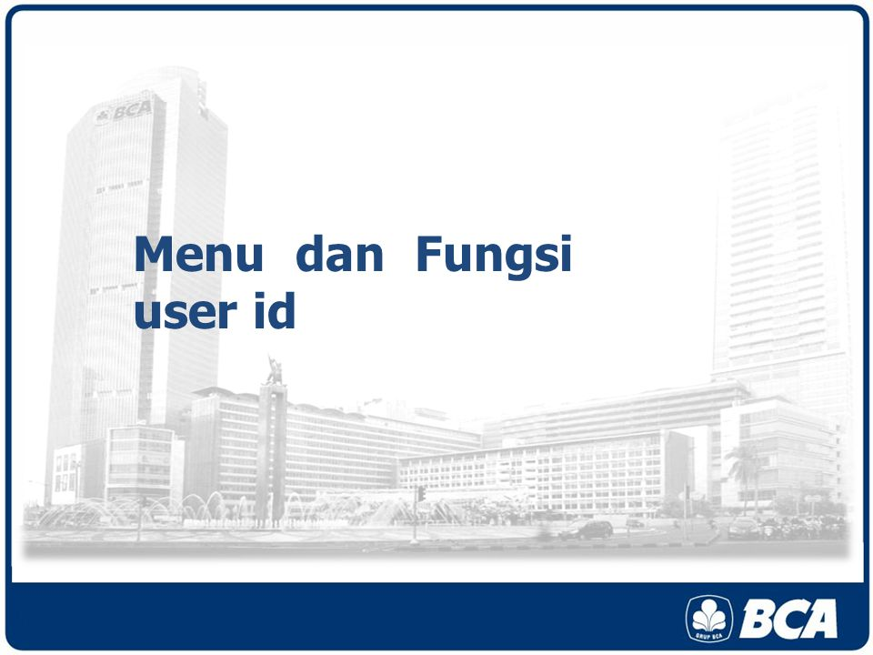 Menu dan Fungsi user id