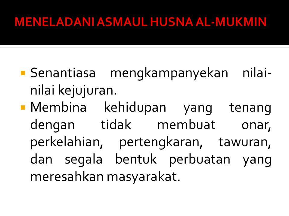 MENELADANI ASMAUL HUSNA AL-MUKMIN