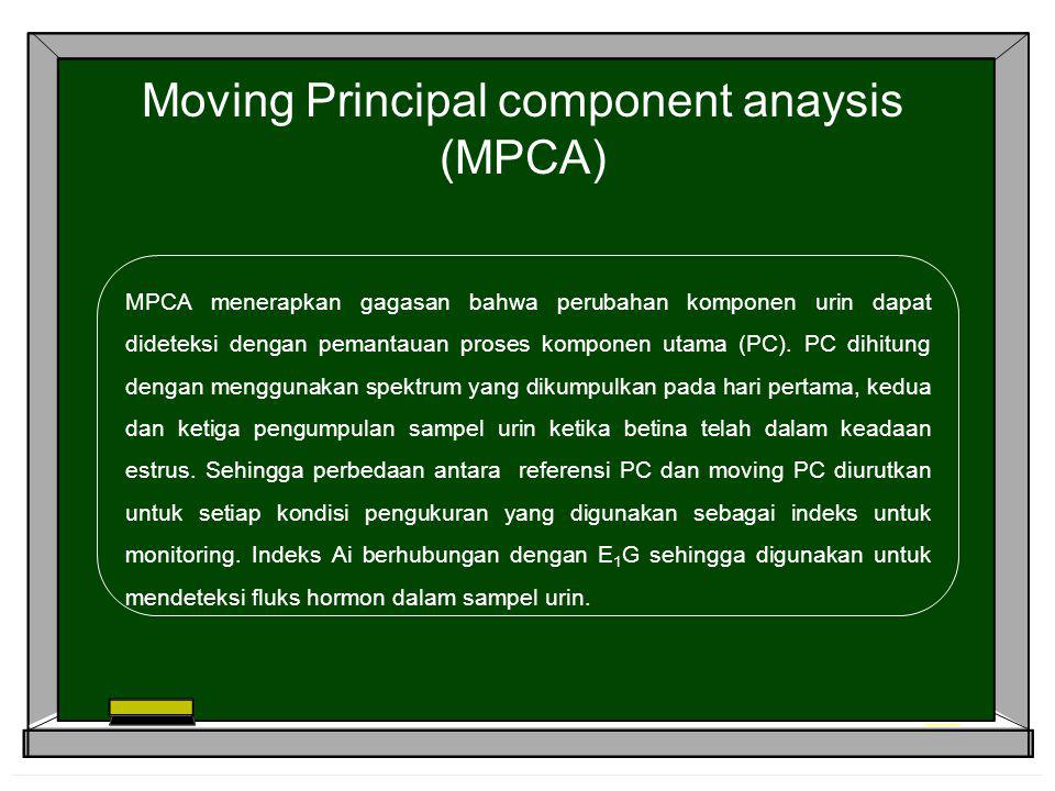 Moving Principal component anaysis (MPCA)