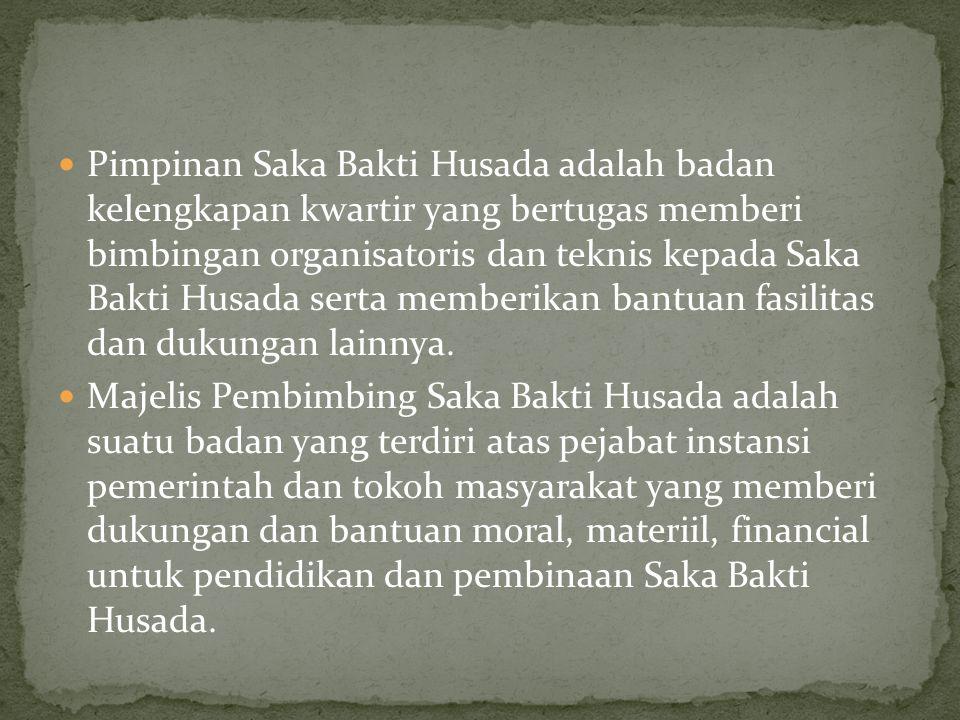 Pimpinan Saka Bakti Husada adalah badan kelengkapan kwartir yang bertugas memberi bimbingan organisatoris dan teknis kepada Saka Bakti Husada serta memberikan bantuan fasilitas dan dukungan lainnya.