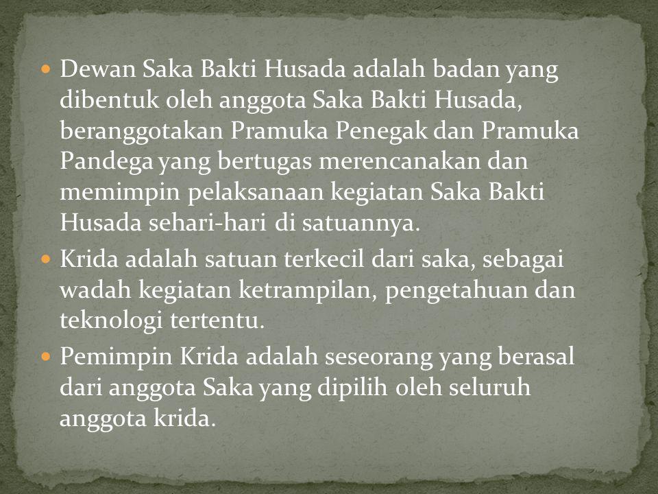Dewan Saka Bakti Husada adalah badan yang dibentuk oleh anggota Saka Bakti Husada, beranggotakan Pramuka Penegak dan Pramuka Pandega yang bertugas merencanakan dan memimpin pelaksanaan kegiatan Saka Bakti Husada sehari-hari di satuannya.