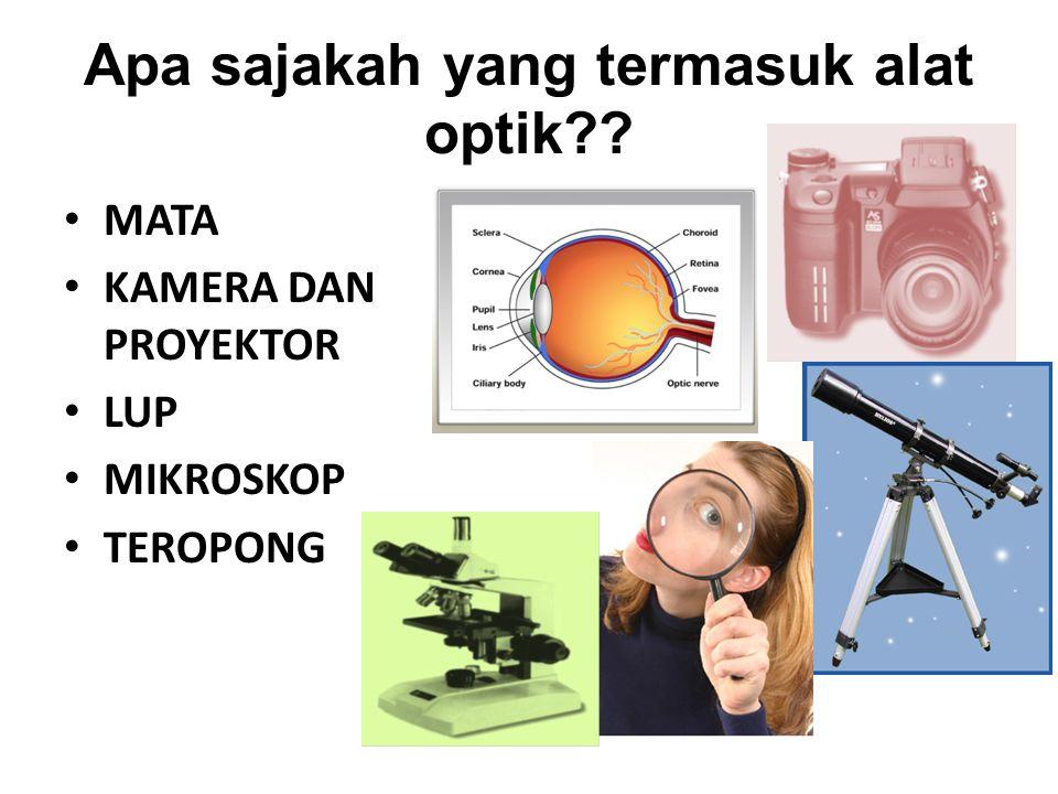 Apa sajakah yang termasuk alat optik