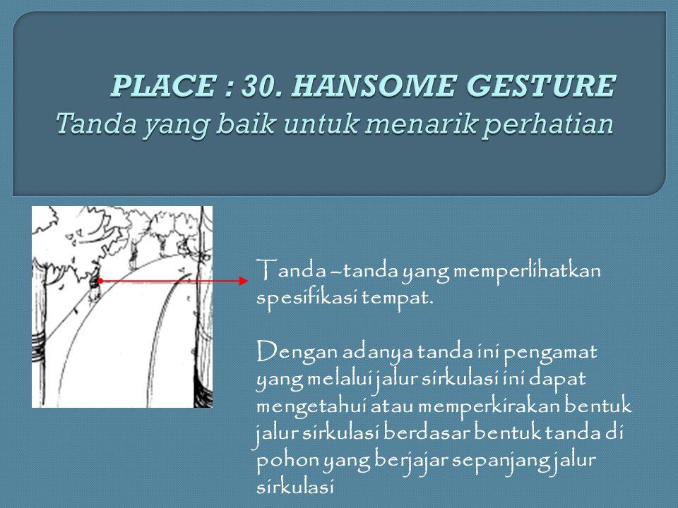 PLACE : 30. HANSOME GESTURE Tanda yang baik untuk menarik perhatian
