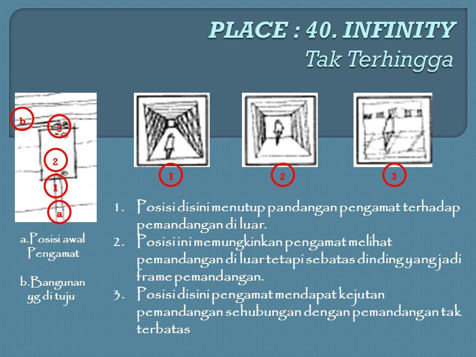 PLACE : 40. INFINITY Tak Terhingga