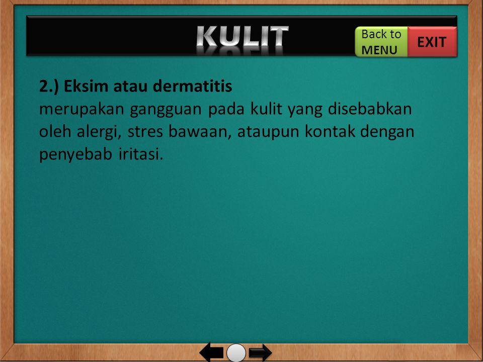 KULIT 2.) Eksim atau dermatitis